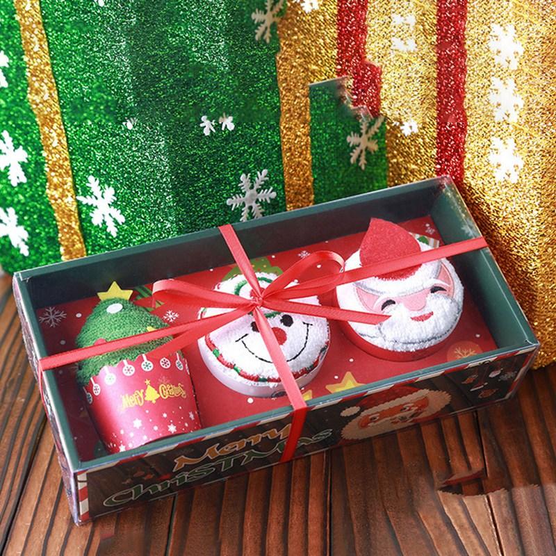Weihnachten-Handtuch-Santa-Schneemann-Weihnachten-Baum-Baumwolle-Super-Weic-Y2L7 Indexbild 10