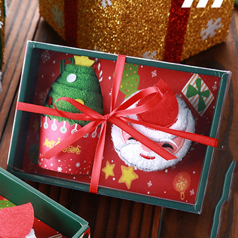 Weihnachten-Handtuch-Santa-Schneemann-Weihnachten-Baum-Baumwolle-Super-Weic-Y2L7