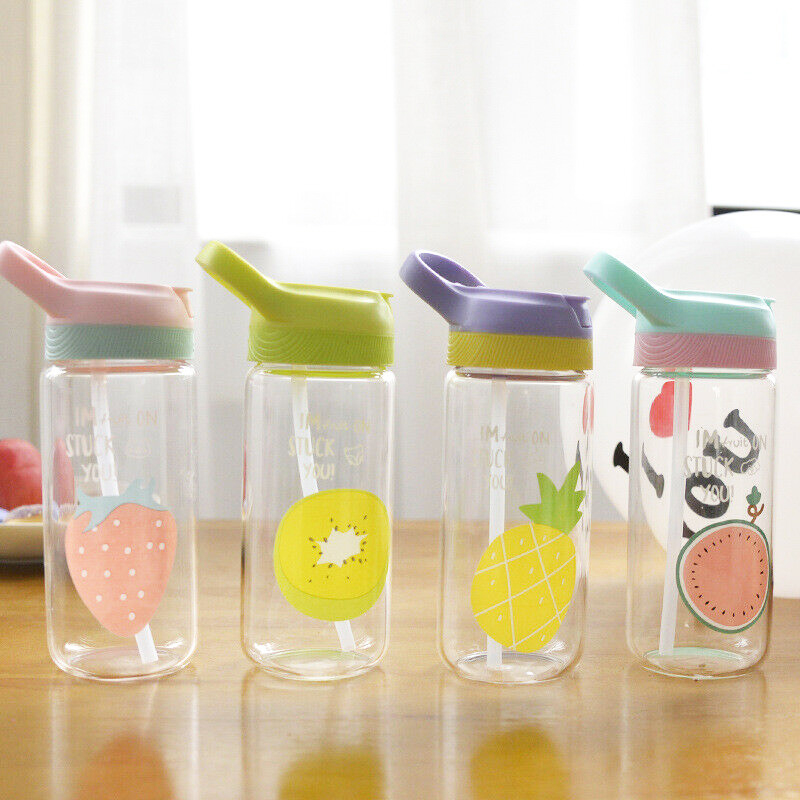 400-500ml Leakproof Water Bottle Plastic Portable Travel Drinking Cup