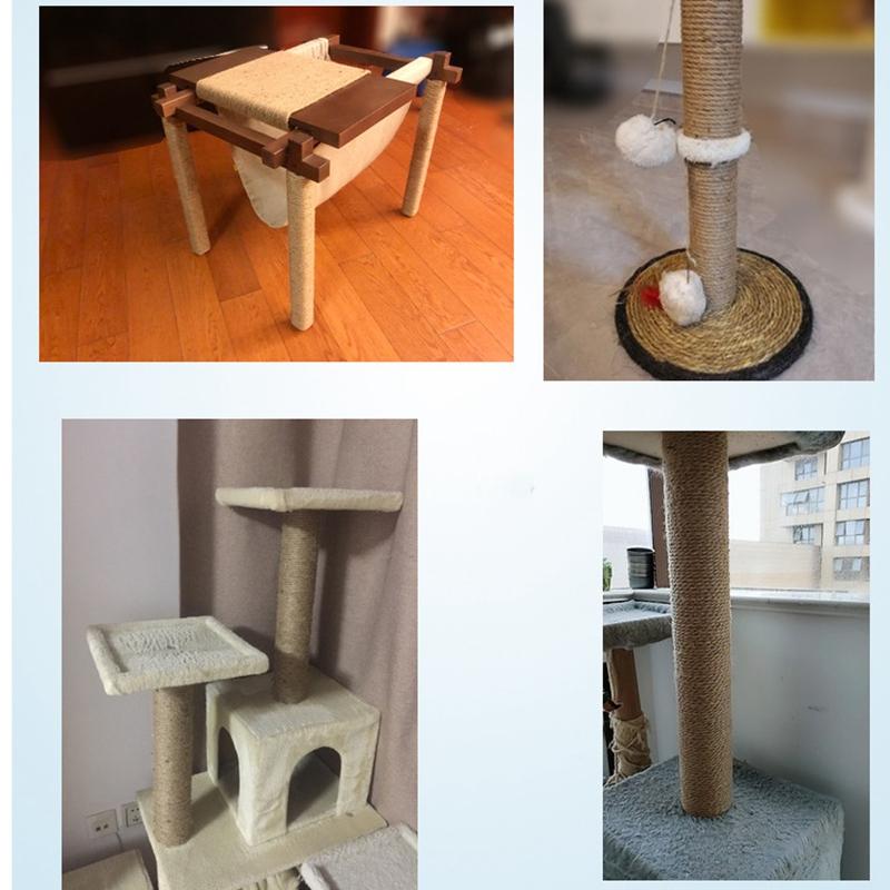 6Mm-NatueRliche-Sisal-Seil-fuer-Kratzbaum-Kratzbaum-Spielzeug-Machen-Katze-Kl-W7M7 Indexbild 9