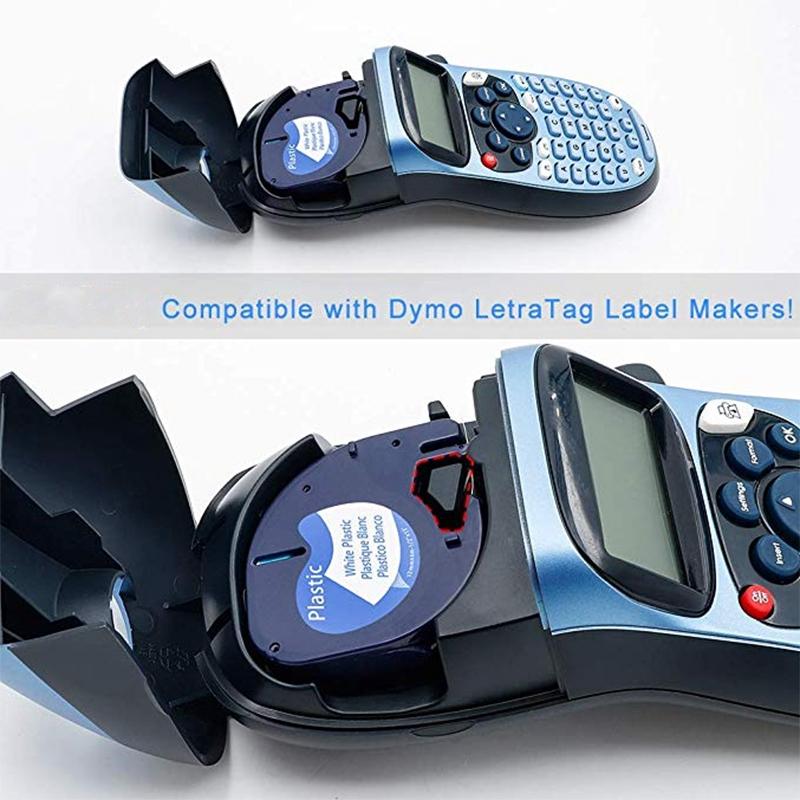 5 Piezas 91201 12 Mm Compatible con Cinta Dymo Letratag Cinta de Etiquetas N7B5