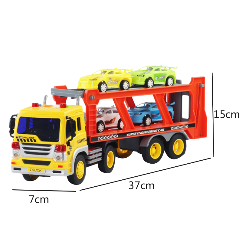Children-039-s-Friction-Power-Truck-Toy-With-Sound-and-Light-Toddler-Boy-Toys-T-K5A3 thumbnail 2