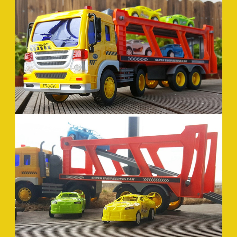 Children-039-s-Friction-Power-Truck-Toy-With-Sound-and-Light-Toddler-Boy-Toys-T-K5A3 thumbnail 4