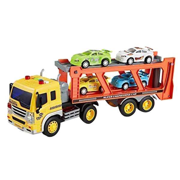 Children-039-s-Friction-Power-Truck-Toy-With-Sound-and-Light-Toddler-Boy-Toys-T-K5A3 thumbnail 6