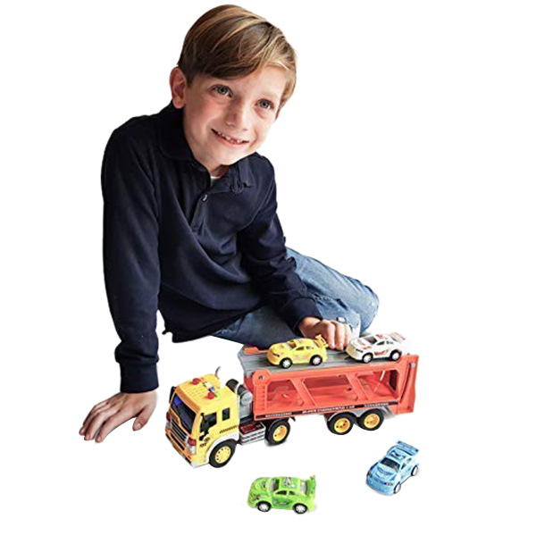 Children-039-s-Friction-Power-Truck-Toy-With-Sound-and-Light-Toddler-Boy-Toys-T-K5A3 thumbnail 7