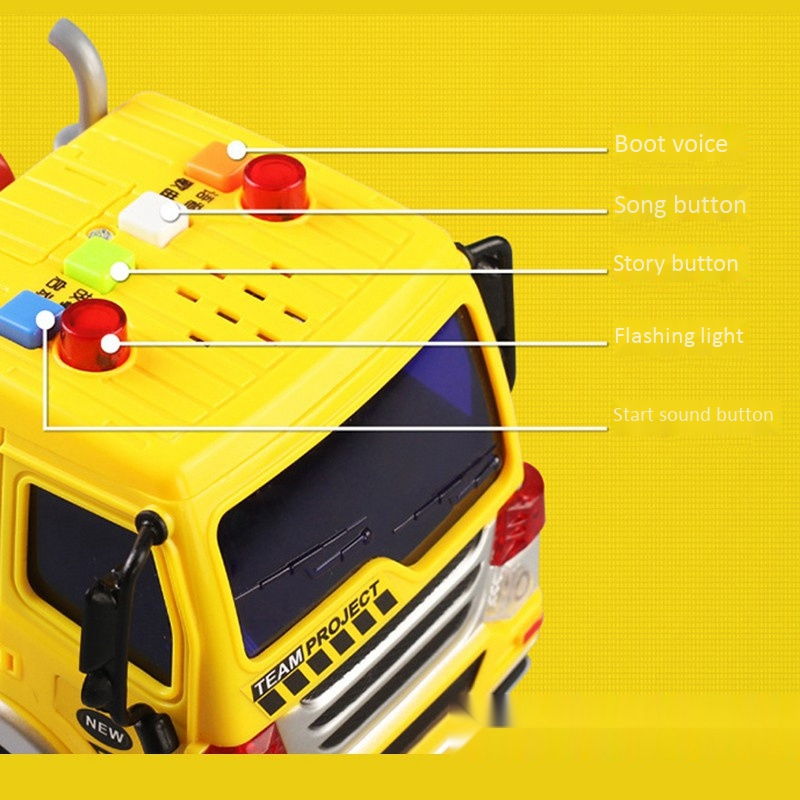 Children-039-s-Friction-Power-Truck-Toy-With-Sound-and-Light-Toddler-Boy-Toys-T-K5A3 thumbnail 8