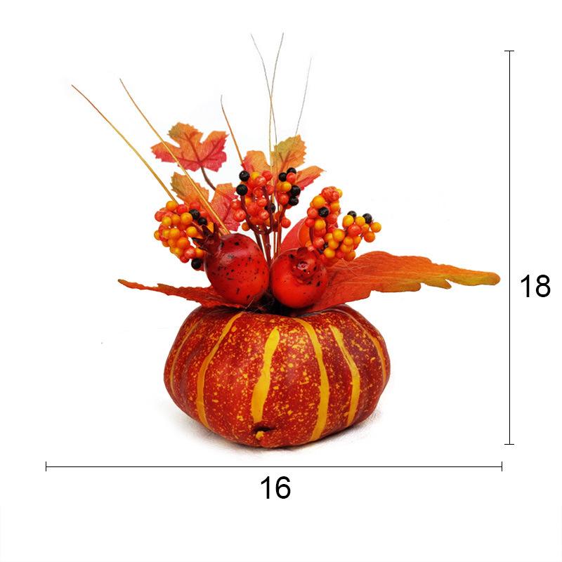 2-Teilesatz-KueNstliche-KueRbisse-Ahornblatt-Granatapfel-Tisch-Wohnkultur-Hau-D8D8 Indexbild 3