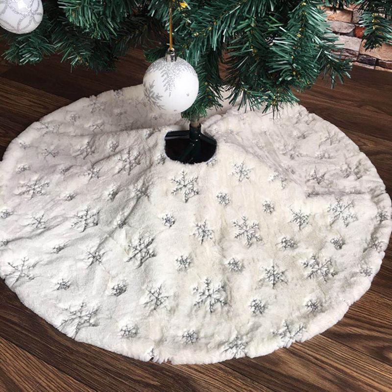 90Cm-Bordado-Blanco-Brillo-Bordado-aRbol-de-Navidad-Grupo-Copo-de-Nieve-Nav-D9N2 miniatura 9