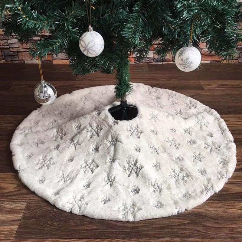 90Cm-Bordado-Blanco-Brillo-Bordado-aRbol-de-Navidad-Grupo-Copo-de-Nieve-Nav-D9N2 miniatura 10