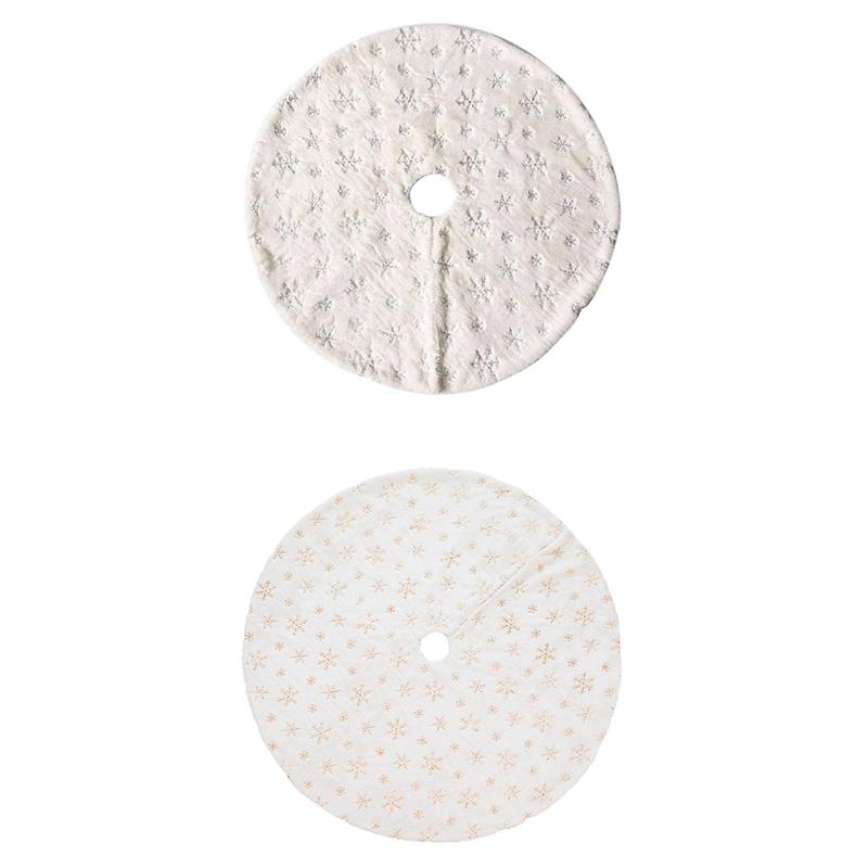 90Cm-Bordado-Blanco-Brillo-Bordado-aRbol-de-Navidad-Grupo-Copo-de-Nieve-Nav-D9N2 miniatura 11