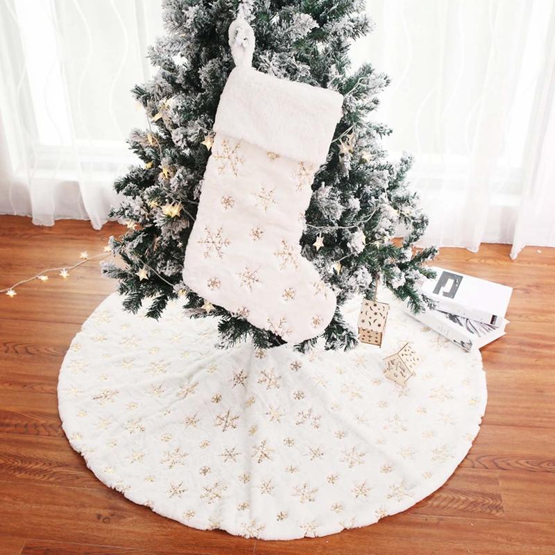 90Cm-Bordado-Blanco-Brillo-Bordado-aRbol-de-Navidad-Grupo-Copo-de-Nieve-Nav-D9N2 miniatura 14