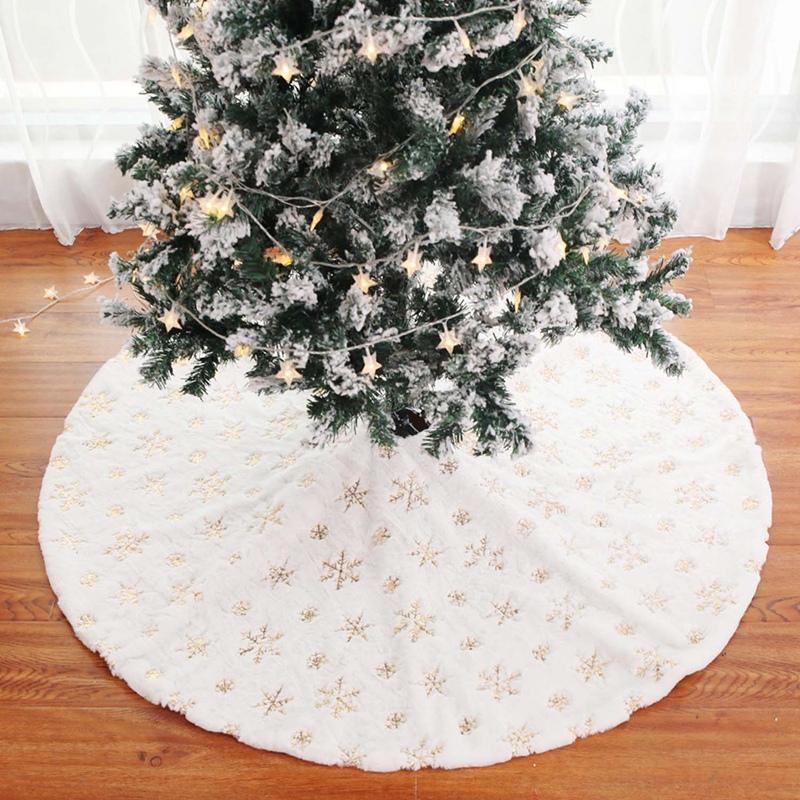 90Cm-Bordado-Blanco-Brillo-Bordado-aRbol-de-Navidad-Grupo-Copo-de-Nieve-Nav-D9N2 miniatura 21