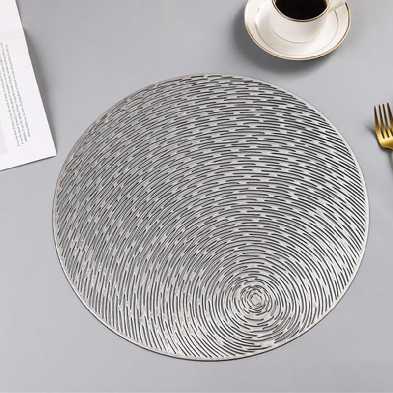 Runde-Tischsets-KueChe-PVC-Tischsets-fuer-Esstisch-Untersetzer-Set-H5K1 Indexbild 3