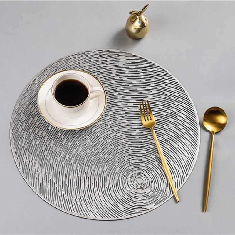 Runde-Tischsets-KueChe-PVC-Tischsets-fuer-Esstisch-Untersetzer-Set-H5K1 Indexbild 5