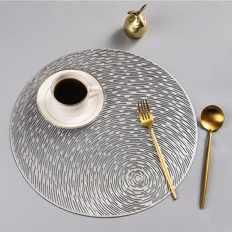 Runde-Tischsets-KueChe-PVC-Tischsets-fuer-Esstisch-Untersetzer-Set-H5K1 Indexbild 13