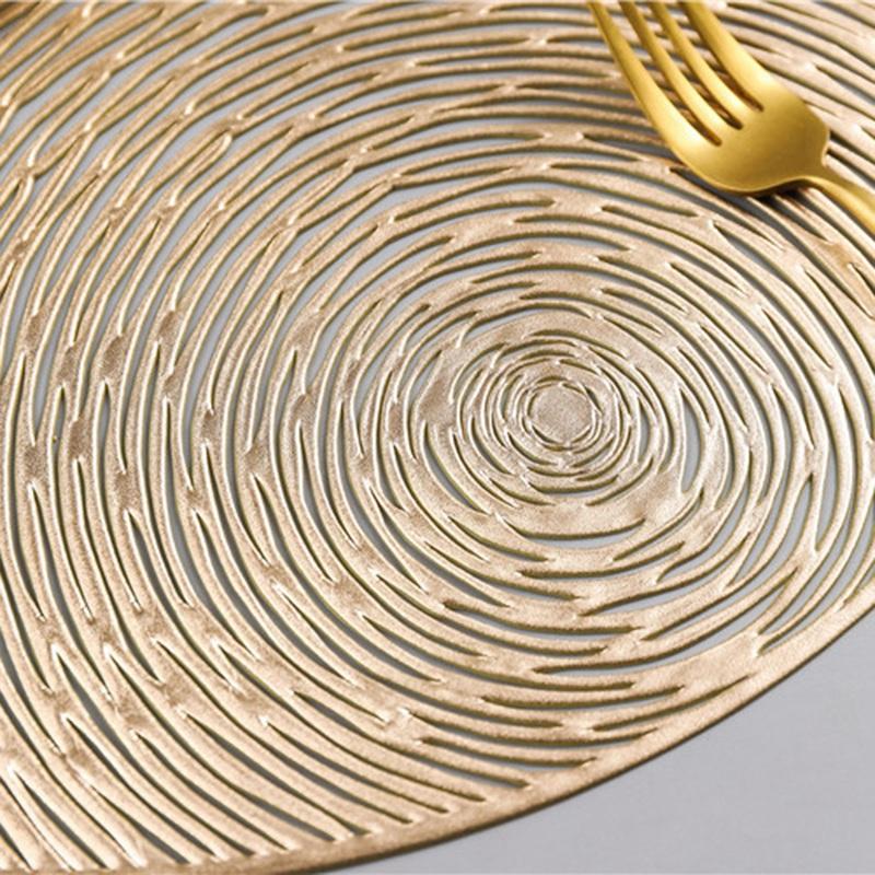 Runde-Tischsets-KueChe-PVC-Tischsets-fuer-Esstisch-Untersetzer-Set-H5K1 Indexbild 15