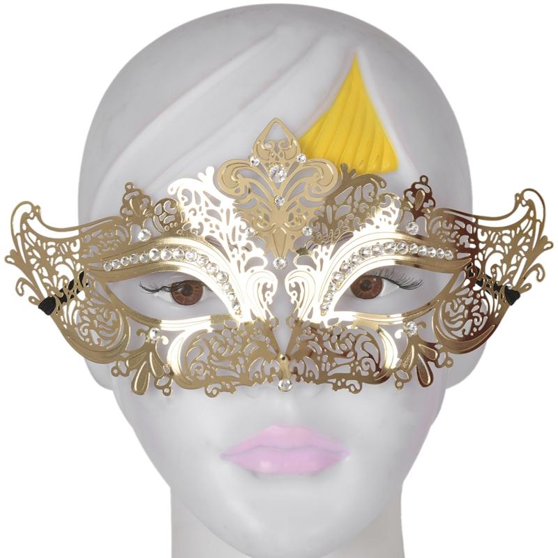 Mascara-de-media-cara-de-fantasma-de-filigrana-de-metal-brillante-para-masc-Y9K5 miniatura 23