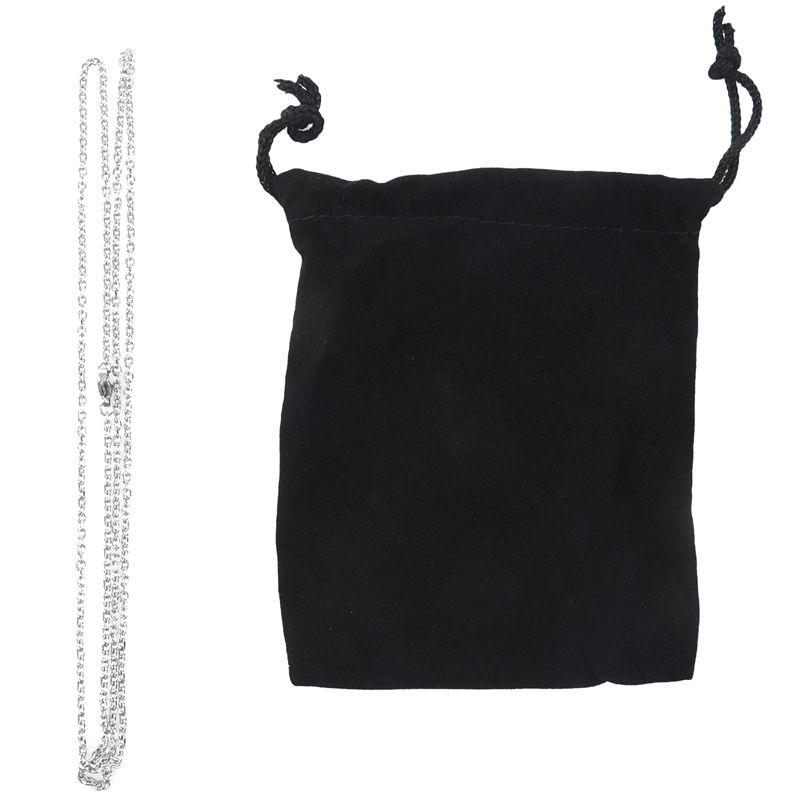 """Indexbild 21 - Schmuck Damen Kette,Edelstahl """"O"""" Halskette,Silber-Breite 2mm-Laenge 50cm W9X7"""