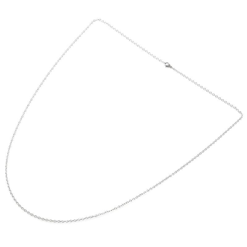 """Indexbild 23 - Schmuck Damen Kette,Edelstahl """"O"""" Halskette,Silber-Breite 2mm-Laenge 50cm W9X7"""