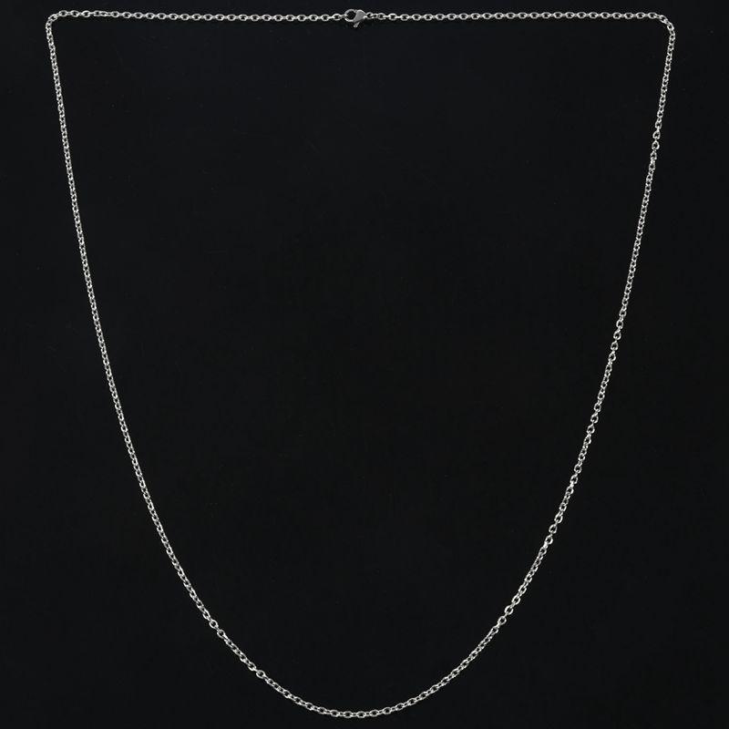"""Indexbild 24 - Schmuck Damen Kette,Edelstahl """"O"""" Halskette,Silber-Breite 2mm-Laenge 50cm W9X7"""