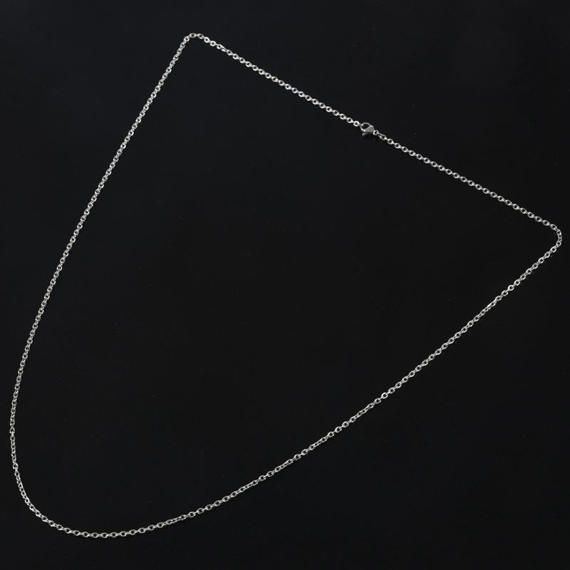 """Indexbild 25 - Schmuck Damen Kette,Edelstahl """"O"""" Halskette,Silber-Breite 2mm-Laenge 50cm W9X7"""