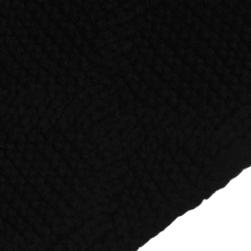 Womens-Stylish-Rhombus-knitting-Hairball-Hat-Scarf-Set-C1N4 thumbnail 9