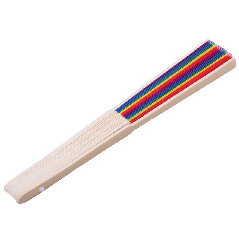 Indexbild 5 - 7-Zoll-Bambus-Rainbow-Fan-Folding-Zubehoer-fuer-Dance-Dekoration-Geschenk-H-J6Z2