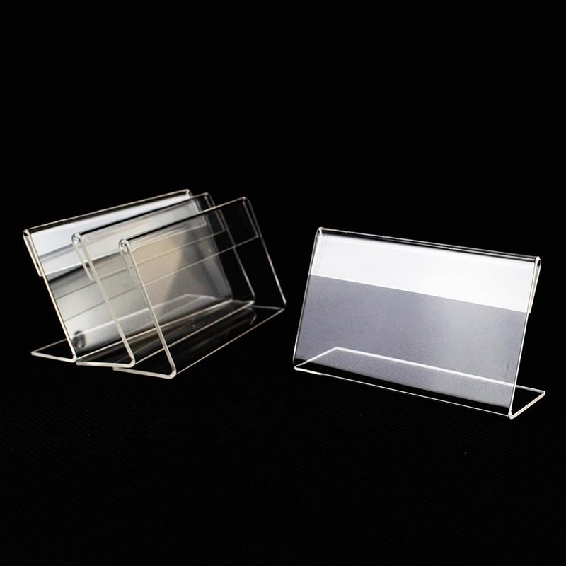 Lopbinte 30Pz Display Display Holder Prezzo Nome Card Tag Etichetta Sign Controsoffitto Custodia da Banco 6Cm X 4Cm
