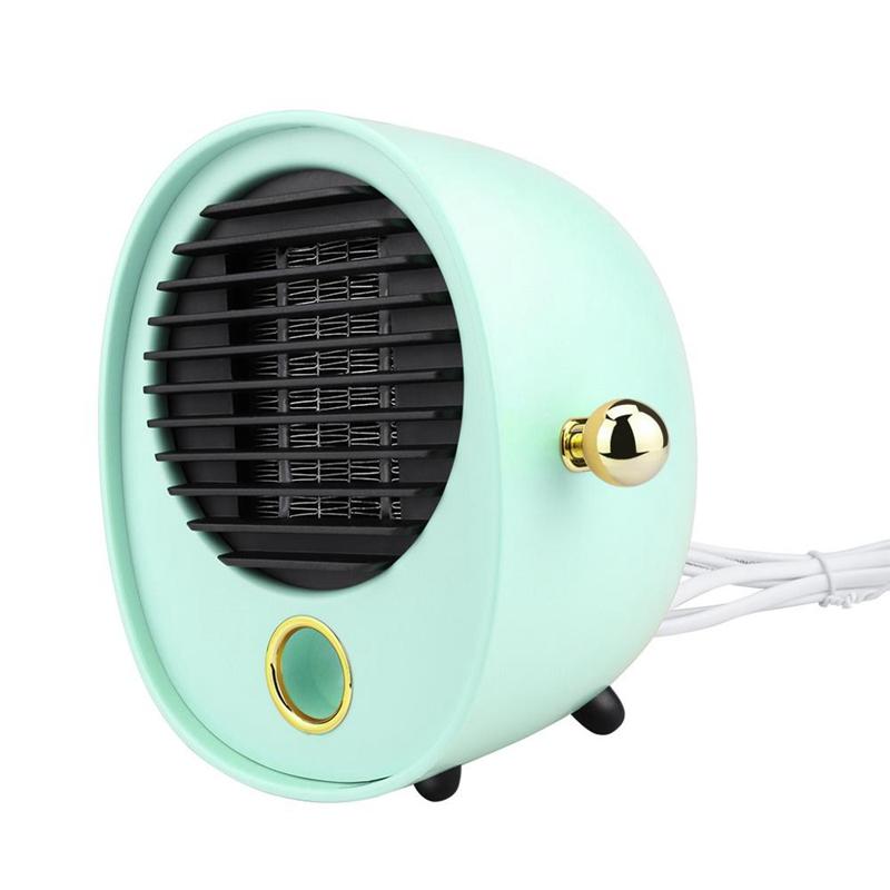900W Mini Elektrische Tisch Fan Heizung Schnelle Luft Wärmer Tragbare Kleine DE