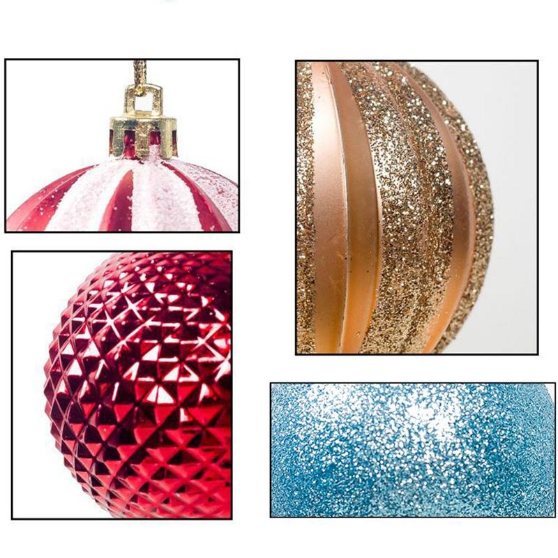 12PCS-Christmas-Tree-Ball-Pendants-Decor-Ball-Bauble-Christmas-Party-Hangin-T5V3 thumbnail 5