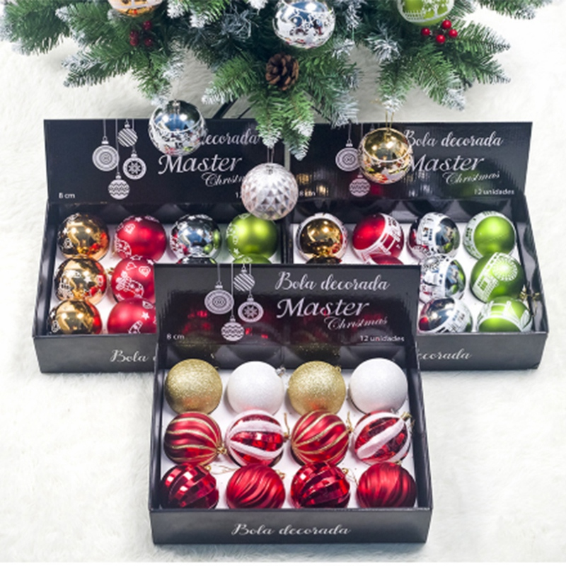 12PCS-Christmas-Tree-Ball-Pendants-Decor-Ball-Bauble-Christmas-Party-Hangin-T5V3 thumbnail 9