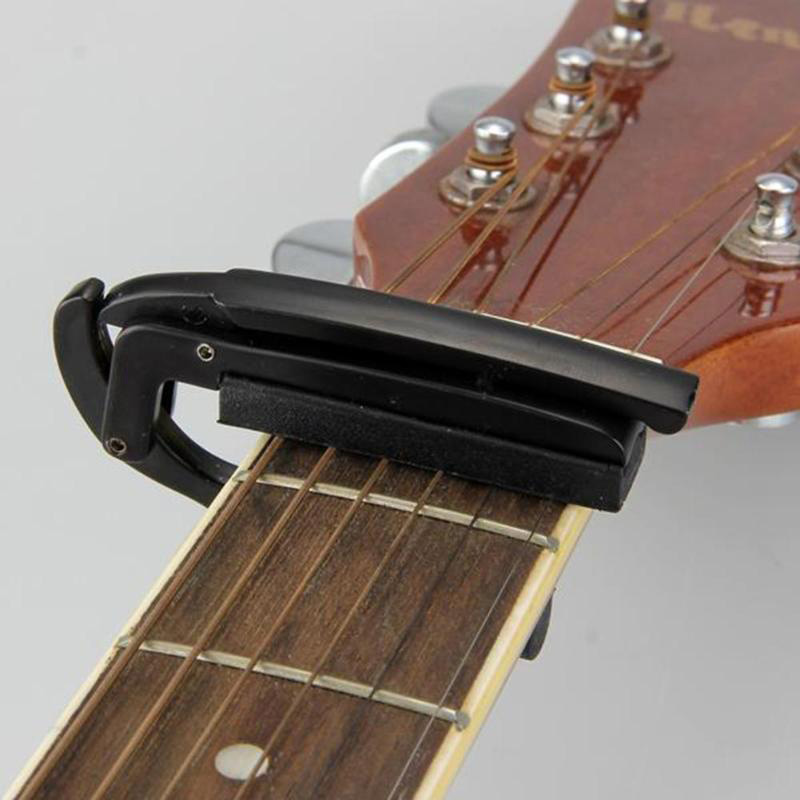 Acoustic-Electric-Tune-Changement-Rapide-DeClencheur-Guitare-Capo-Pince-Cle-W4H4 miniature 15