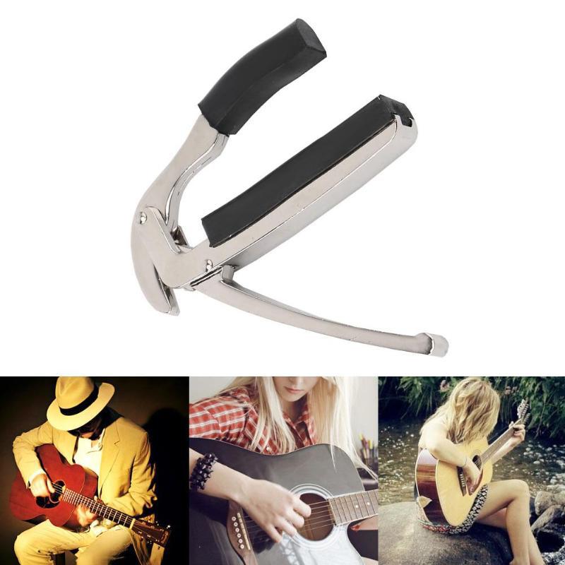 Acoustic-Electric-Tune-Changement-Rapide-DeClencheur-Guitare-Capo-Pince-Cle-W4H4 miniature 17
