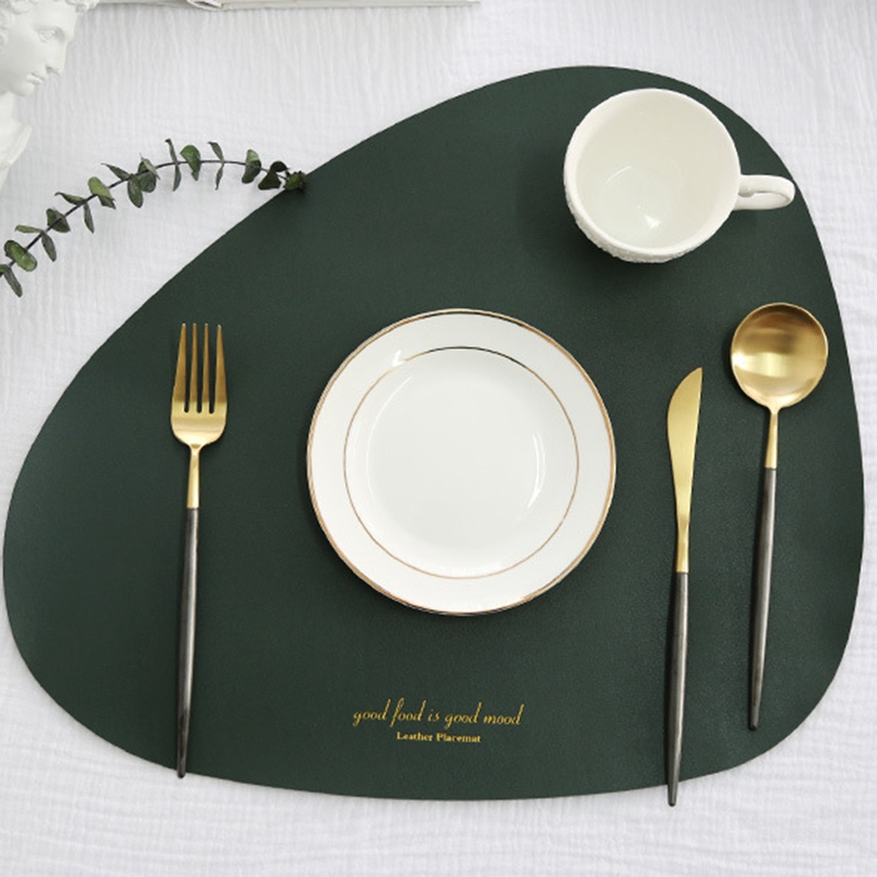 3xleather placemat for dining table noslip waterproof