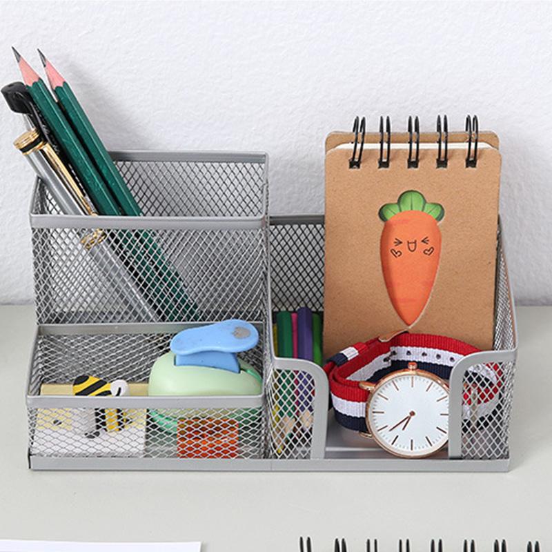 1X-Organizador-de-Suministros-de-Escritorio-de-Malla-MetaLica-Suministros-d-Q9D6 miniatura 8