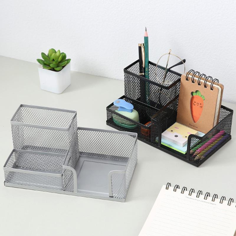 1X-Organizador-de-Suministros-de-Escritorio-de-Malla-MetaLica-Suministros-d-Q9D6 miniatura 17