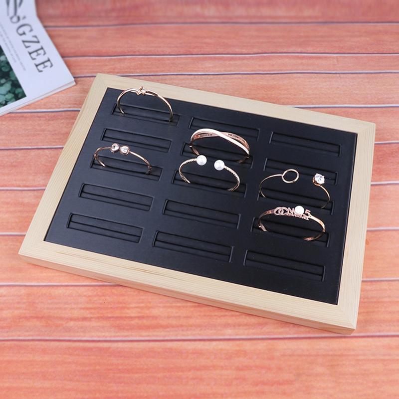 Indexbild 7 - Bambus-Holz-Schmuck-Display-Schmuck-Tray-Ring-Halter-Halsketten-Organisator-Z1M7