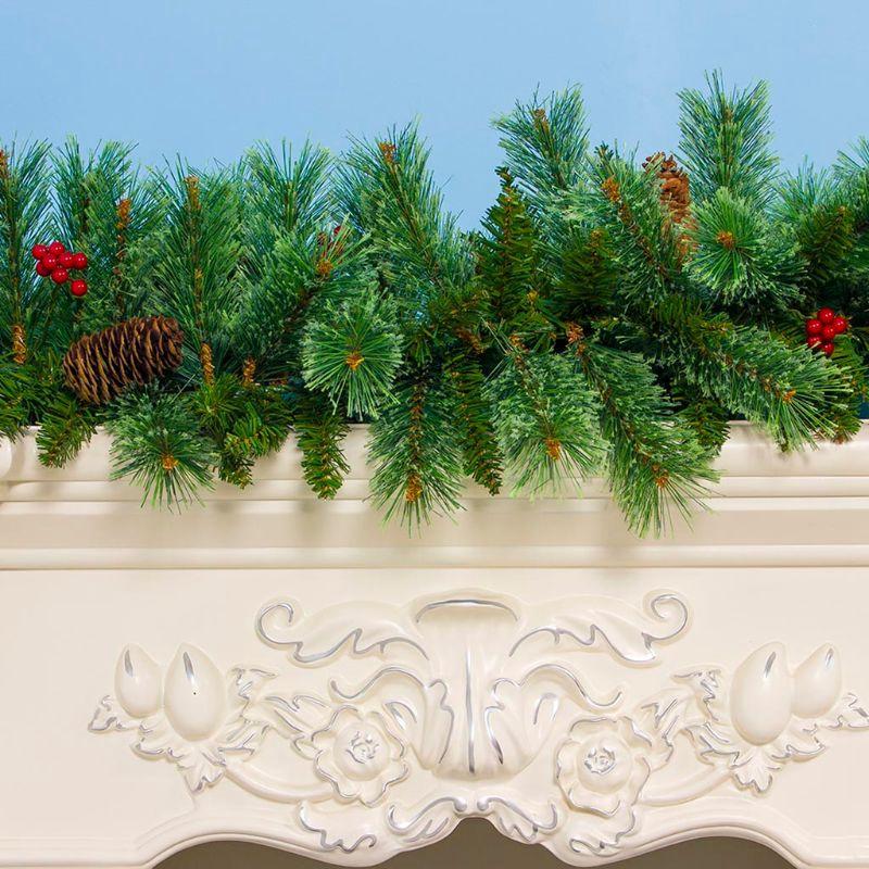 Guirnalda de Abeto Artificial Guirnalda de Pino Verde Abetos Navidad Guirnalda Decoraci/ón DIY Guirnalda Decorativa de Navidad para Interior y Exterior 2.7 m