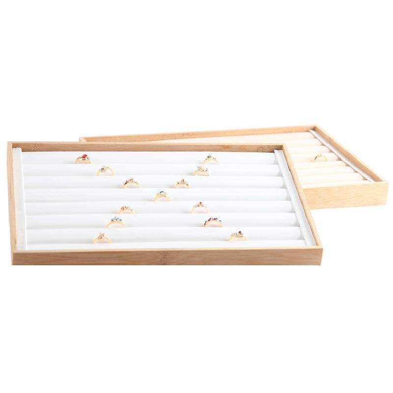 Indexbild 4 - Bambus-Holz-Schmuck-Display-Schmuck-Tablett-Ring-Halter-Halsketten-Organize-R4R8