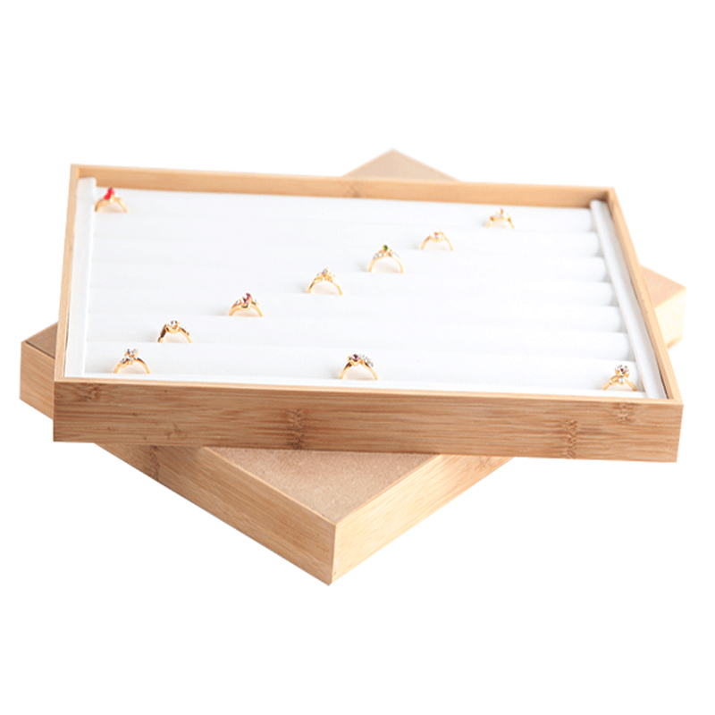 Indexbild 5 - Bambus-Holz-Schmuck-Display-Schmuck-Tablett-Ring-Halter-Halsketten-Organize-R4R8
