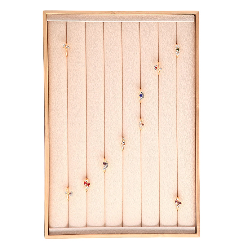 Indexbild 9 - Bambus-Holz-Schmuck-Display-Schmuck-Tablett-Ring-Halter-Halsketten-Organize-R4R8