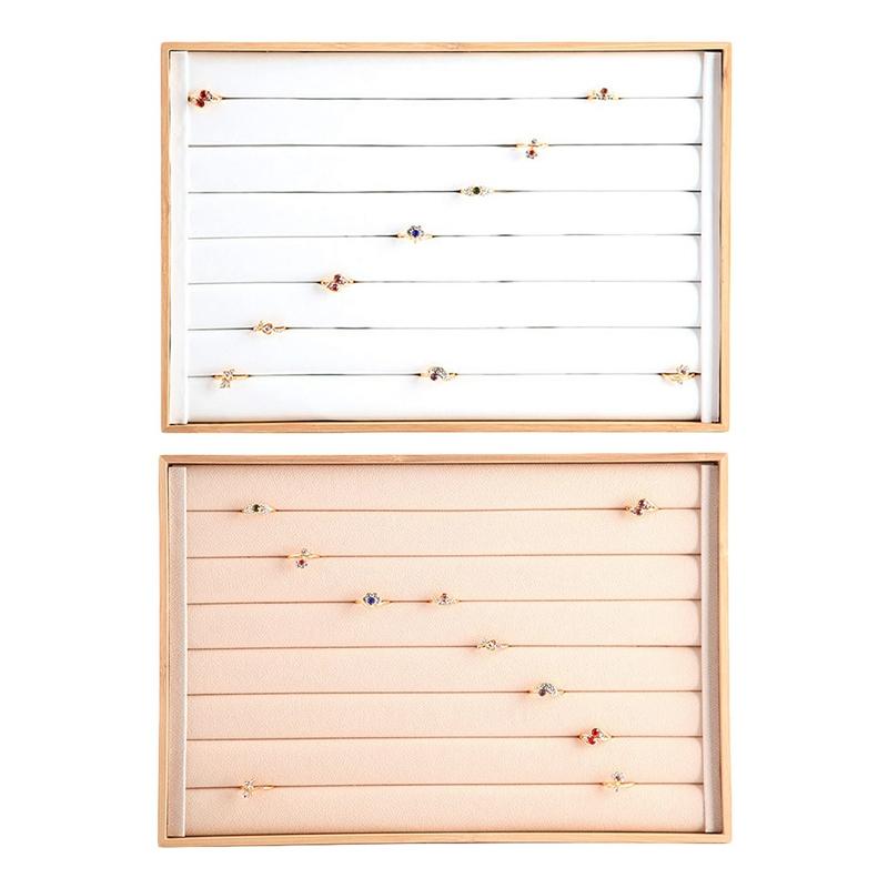Indexbild 13 - Bambus-Holz-Schmuck-Display-Schmuck-Tablett-Ring-Halter-Halsketten-Organize-R4R8