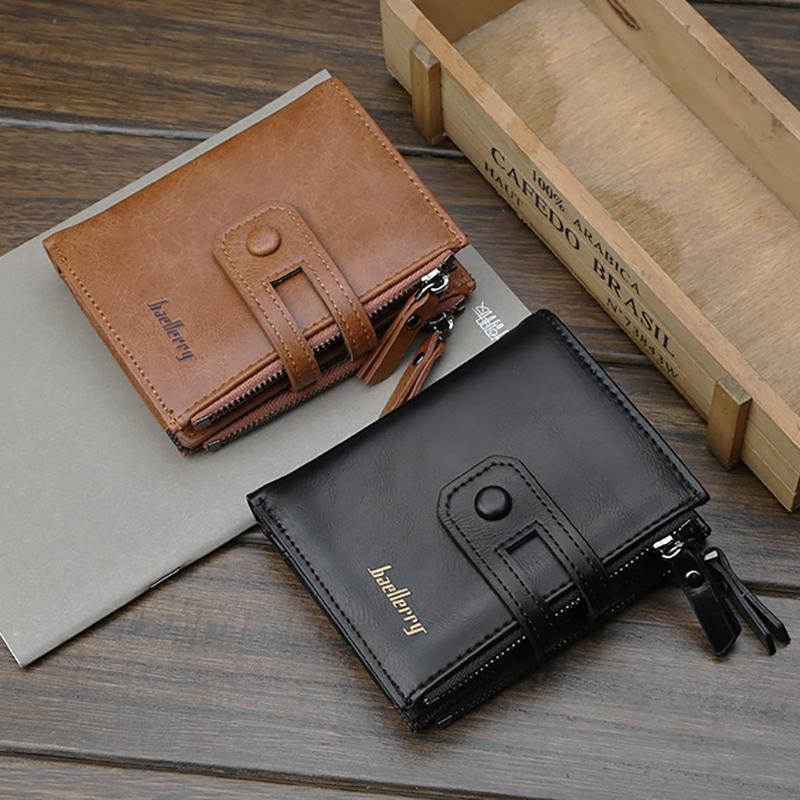 Wallet-Men-Short-Purse-Coin-Pocket-Zipper-Clutch-Bag-Men-039-s-Money-Clips-Male-W7W9 thumbnail 5