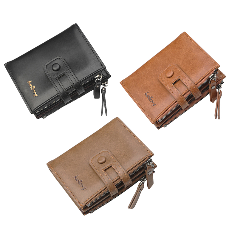 Wallet-Men-Short-Purse-Coin-Pocket-Zipper-Clutch-Bag-Men-039-s-Money-Clips-Male-W7W9 thumbnail 17