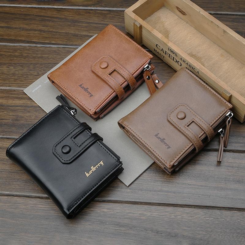 Wallet-Men-Short-Purse-Coin-Pocket-Zipper-Clutch-Bag-Men-039-s-Money-Clips-Male-W7W9 thumbnail 19