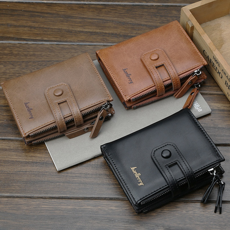 Wallet-Men-Short-Purse-Coin-Pocket-Zipper-Clutch-Bag-Men-039-s-Money-Clips-Male-W7W9 thumbnail 20