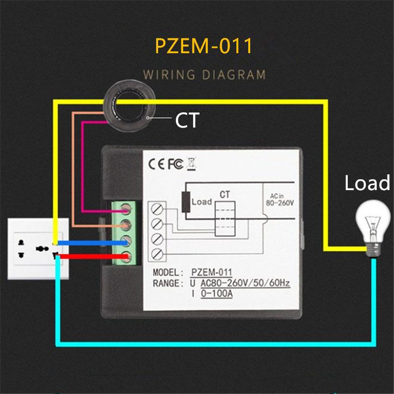 AC-Single-Phase-Digital-Panel-Voltmeter-Ammeter-220V-100A-Voltage-Current-E-S7P4 thumbnail 6