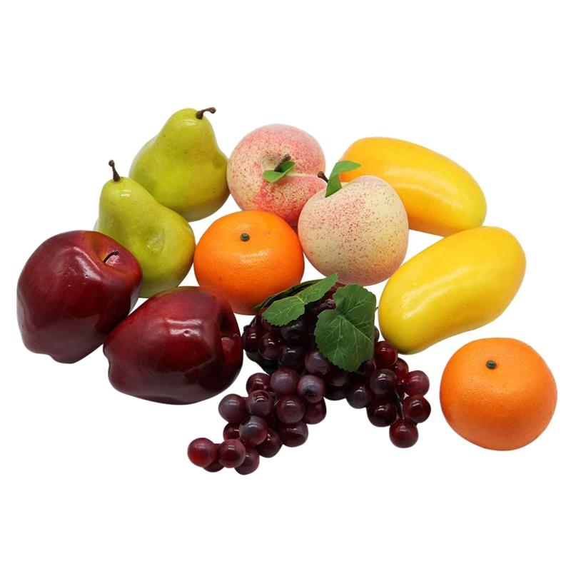 Details about 12 Pcs Decorative Lifelike Realistic Artificial Fake Fruit  Decor,Home Kitchen We