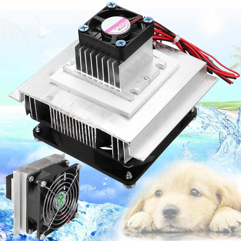 Garosa DC12V DIY Thermoelectric Refrigeration Semiconductor Cooling System Fridge Cooler Fan Kit Mini Air Conditioner