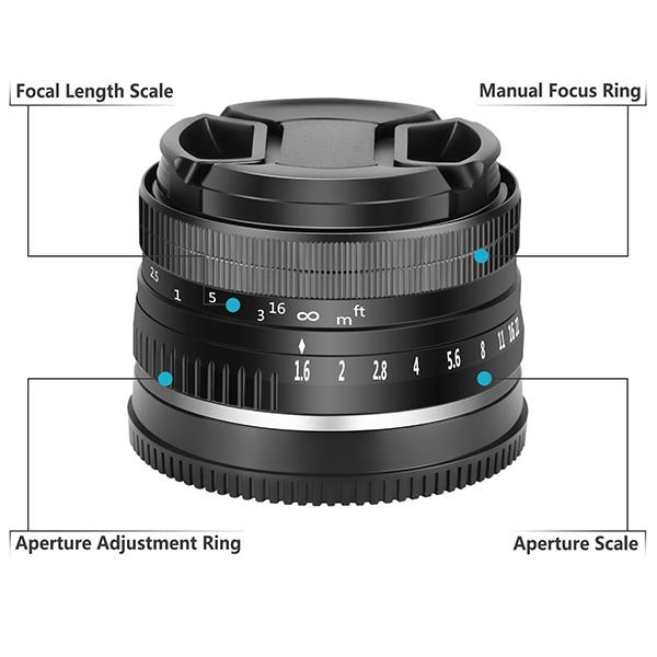 32Mm-F1-6-Objectif-Fixe-a-Grande-Ouverture-Manuelle-APS-C-pour-Sony-E-Mount-I2Y8 miniature 7